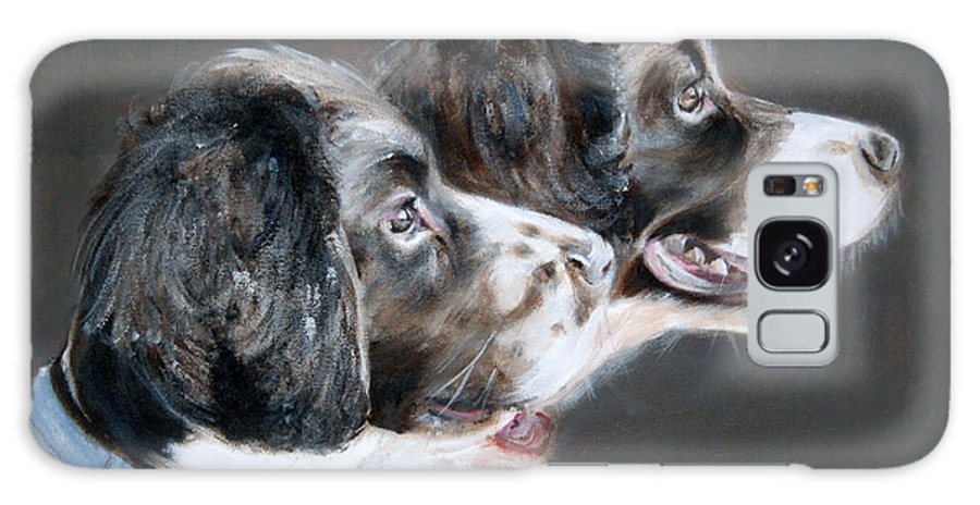 Dogs Galaxy Case featuring the painting Bill And Ollie by Fiona Jack