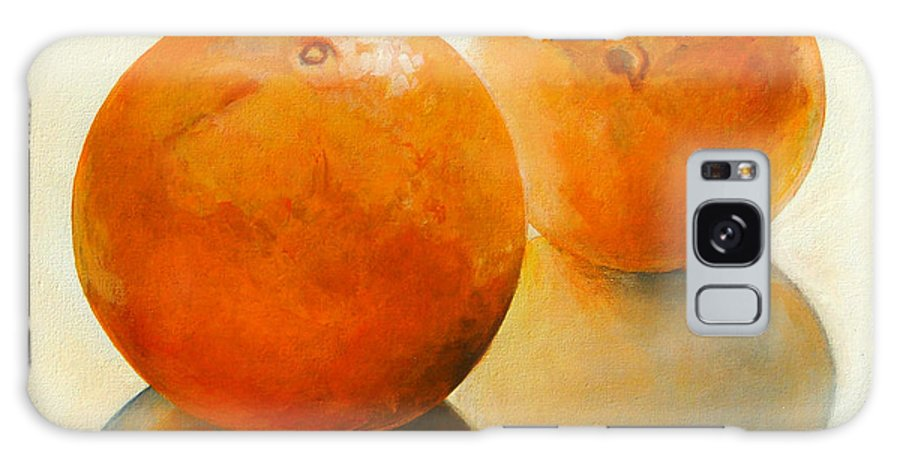 Still Life Galaxy Case featuring the painting Billes oranges by Muriel Dolemieux