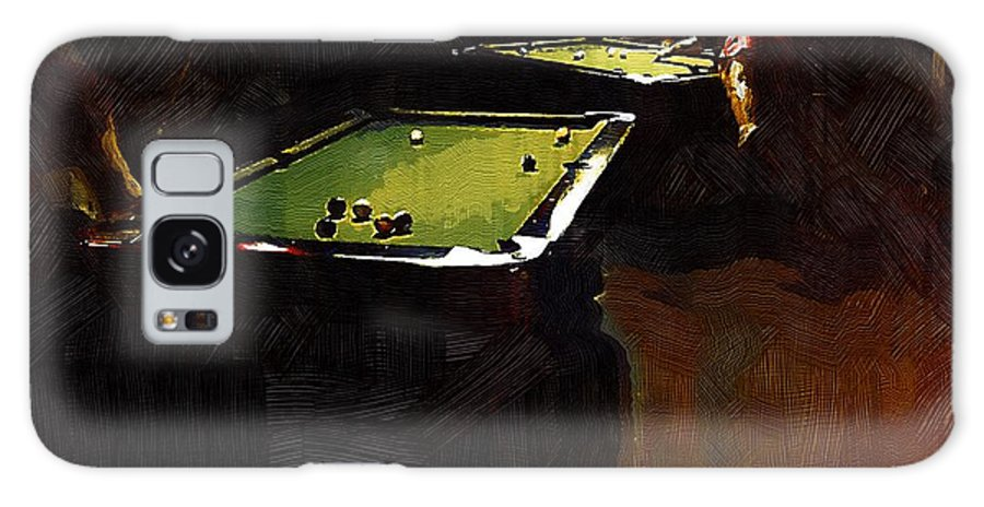 Billiards Galaxy S8 Case featuring the painting Billiards Ballet by RC DeWinter