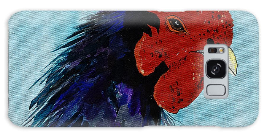 Cock Galaxy S8 Case featuring the painting Billy Boy The Rooster by Janice Pariza