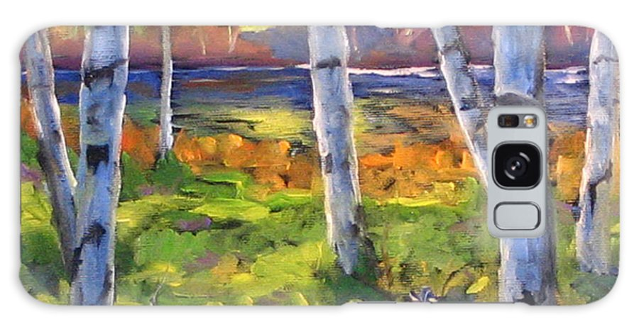 Art Galaxy S8 Case featuring the painting Birches 01 by Richard T Pranke