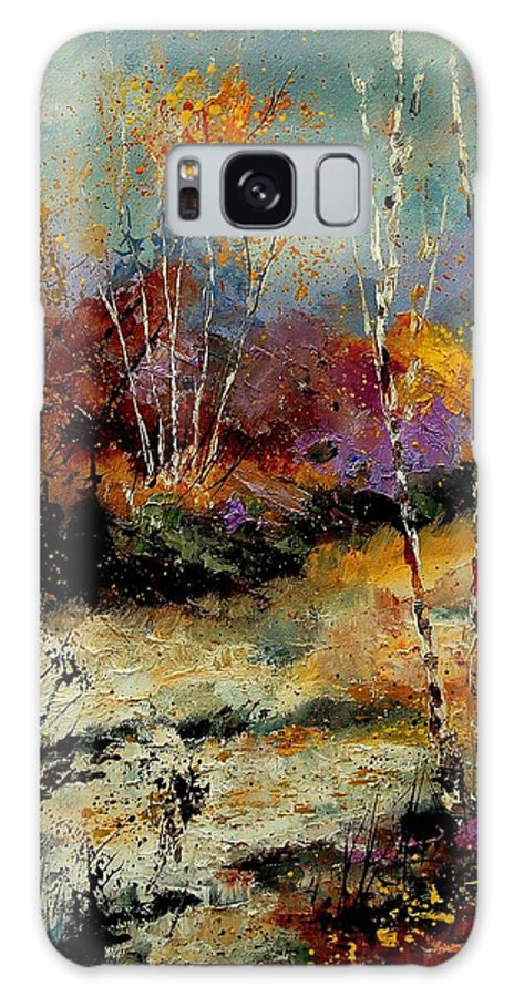 Tree Galaxy S8 Case featuring the painting Birchtrees 459090 by Pol Ledent