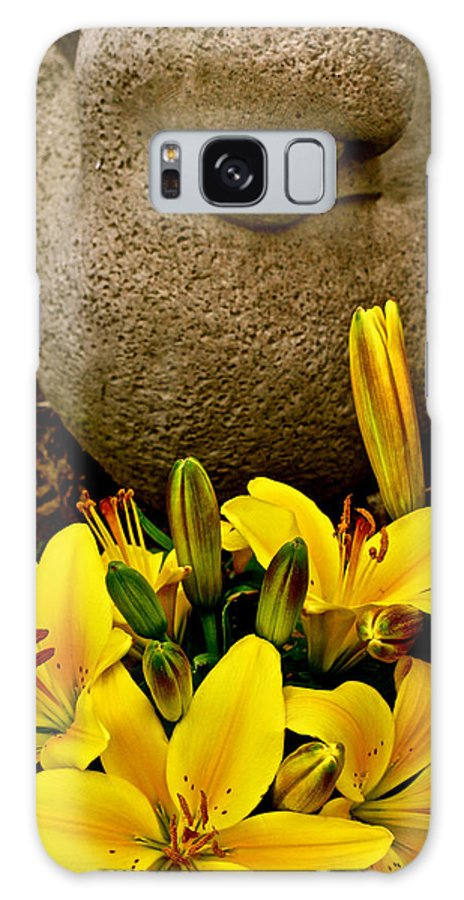 Bird And Bloom Galaxy S8 Case featuring the photograph Bird And Bloom by Debra   Vatalaro