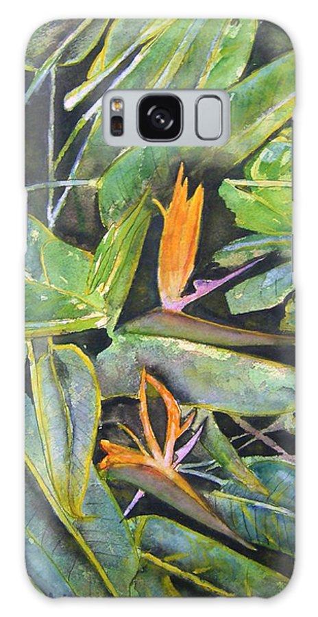 Flower Galaxy S8 Case featuring the painting Bird Of Paradise 2 by Derek Mccrea