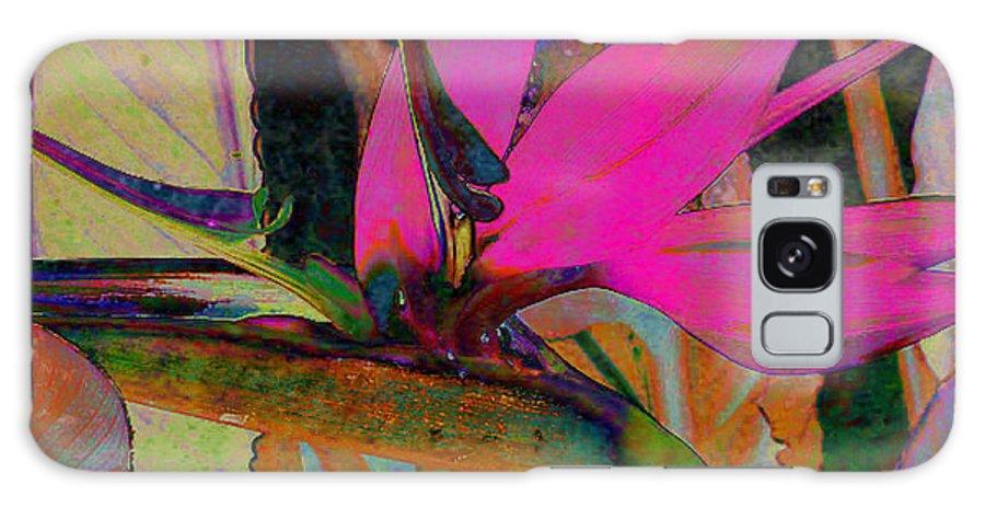 Flower Galaxy S8 Case featuring the digital art Bird Of Paradise by Barbara Berney