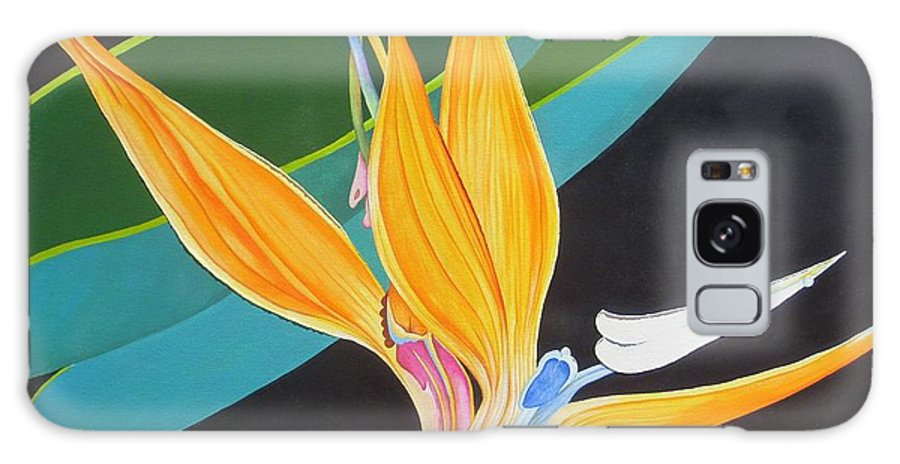 Flower Galaxy S8 Case featuring the painting Bird Of Paradise by Carol Sabo