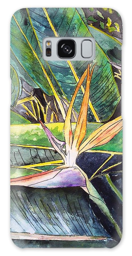 Watercolor Galaxy S8 Case featuring the painting Bird Of Paradise by Derek Mccrea