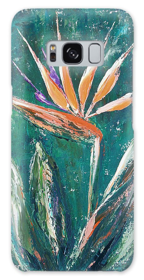 Bird Of Paradise Galaxy S8 Case featuring the painting Bird Of Paradise by Gina De Gorna
