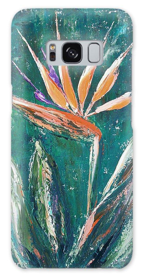 Bird Of Paradise Galaxy Case featuring the painting Bird Of Paradise by Gina De Gorna