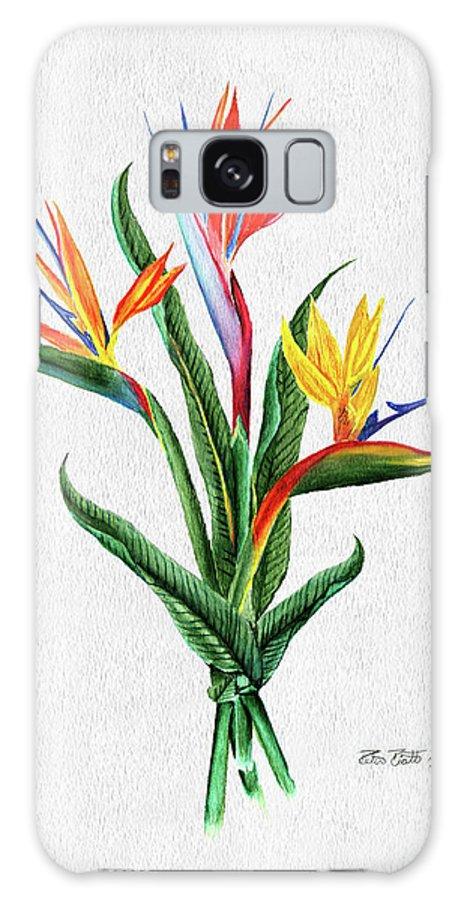 Bird Of Paradise Galaxy S8 Case featuring the painting Bird Of Paradise by Peter Piatt