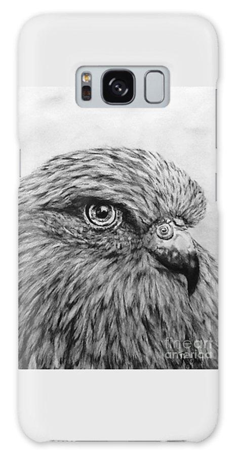 Birds Galaxy Case featuring the drawing Bird by Regan J Smith