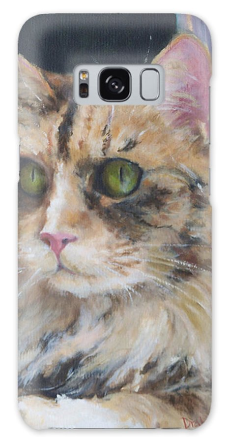 Feline Galaxy S8 Case featuring the painting Bird Watching by Alicia Drakiotes
