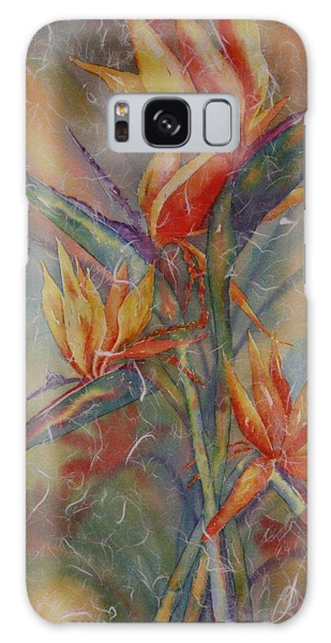 Bird Of Paradise Galaxy S8 Case featuring the painting Birdies by Tara Moorman