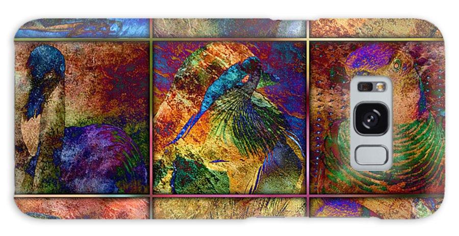 Birds Galaxy S8 Case featuring the digital art Birds by Barbara Berney