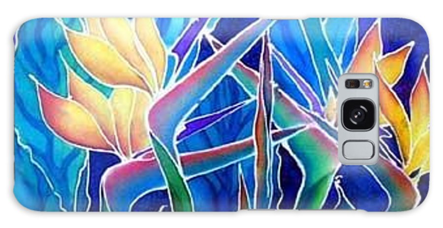 Silks Galaxy Case featuring the painting Birds Of Paradise by Francine Dufour Jones
