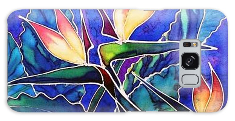 Silk Painting Galaxy S8 Case featuring the painting Birds Of Paradise II by Francine Dufour Jones