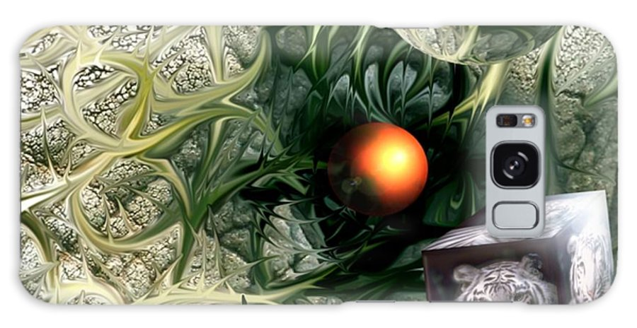 Abstract Nature Red Birth Tiger Spheres Wire Galaxy S8 Case featuring the digital art Birth by Veronica Jackson