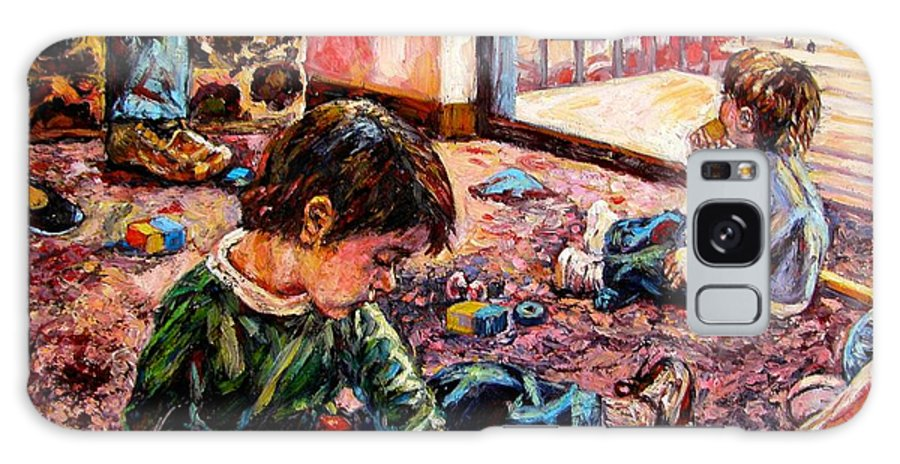 Figure Galaxy Case featuring the painting Birthday Party Or A Childs View by Kendall Kessler