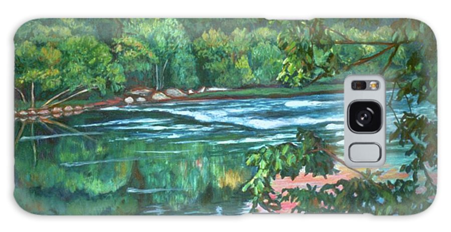 River Galaxy Case featuring the painting Bisset Park Rapids by Kendall Kessler