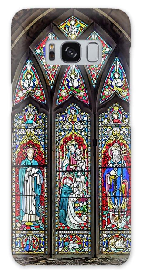 Window Galaxy S8 Case featuring the photograph Black Abbey Window - Kilkenny - Ireland by Tony Crehan