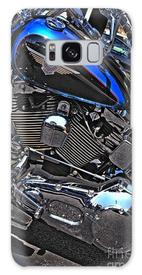 Motorcycle Art Galaxy S8 Case featuring the photograph Black And Blue Harley by Corky Willis Atlanta Photography