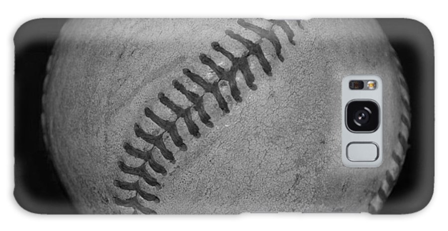 Baseball Galaxy S8 Case featuring the photograph Black And White Baseball by Rob Hans