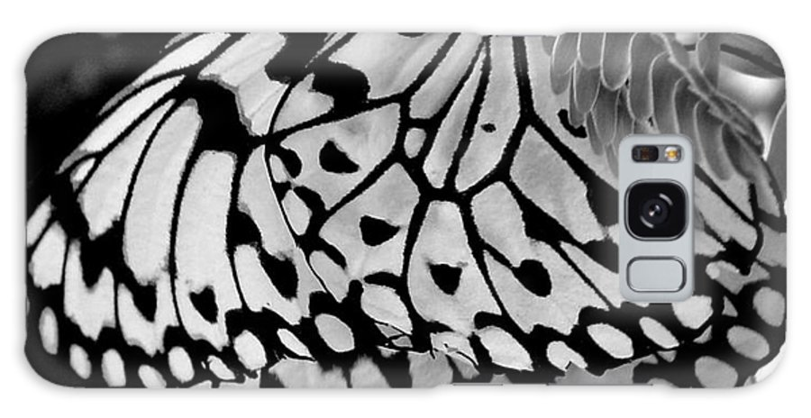 Photograph Galaxy Case featuring the photograph Black And White Butterfly by Shelley Jones