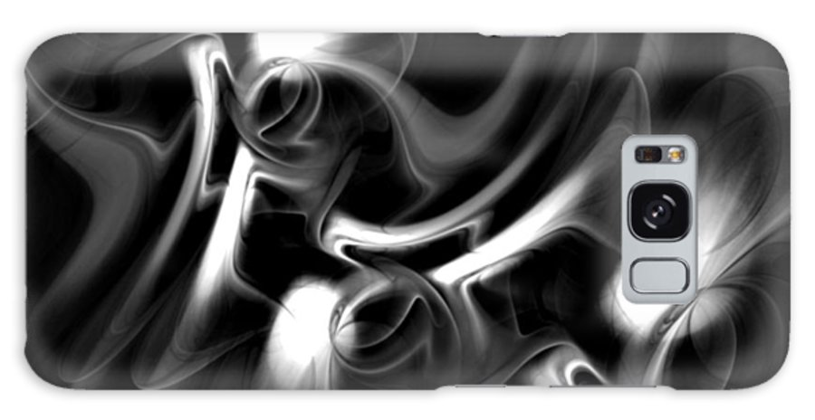 Fractal Galaxy S8 Case featuring the digital art Black And White Fractal 080810a by David Lane