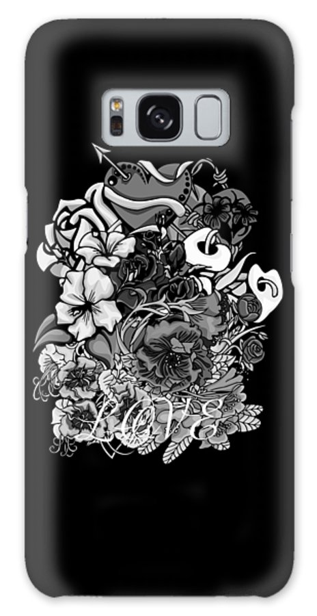 Flowers Galaxy S8 Case featuring the photograph Black And White Love Bouquet by William Barron