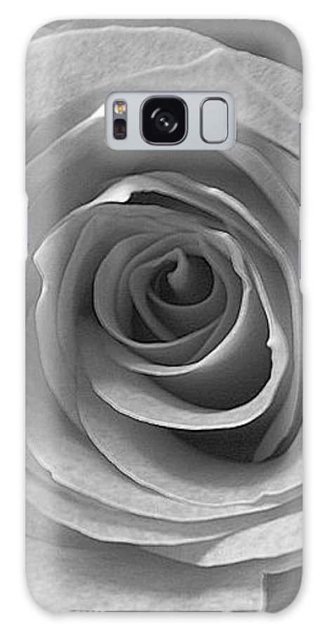 Rose Pedals Galaxy S8 Case featuring the photograph Black And White by Luciana Seymour