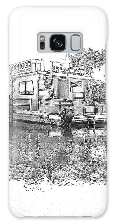 Black And White Galaxy S8 Case featuring the photograph Black And White Party Boat by Michelle Powell