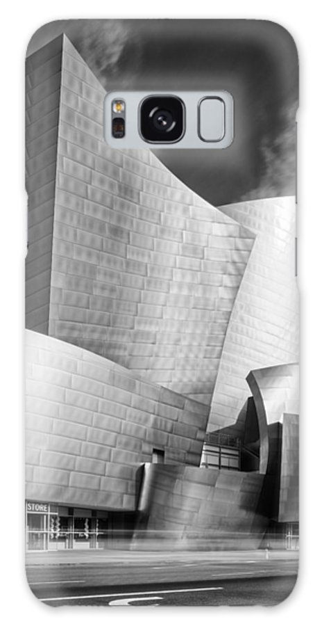 Downtown Galaxy S8 Case featuring the photograph Black And White Rendition Of The Walt Disney Concert Hall - Downtown Los Angeles California by Silvio Ligutti