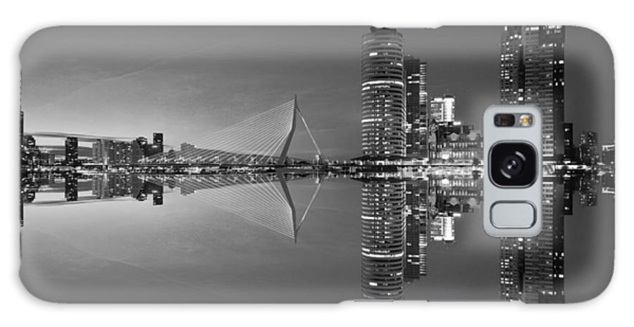 Black Galaxy S8 Case featuring the photograph Black And White Rotterdam - The Netherlands by Artpics
