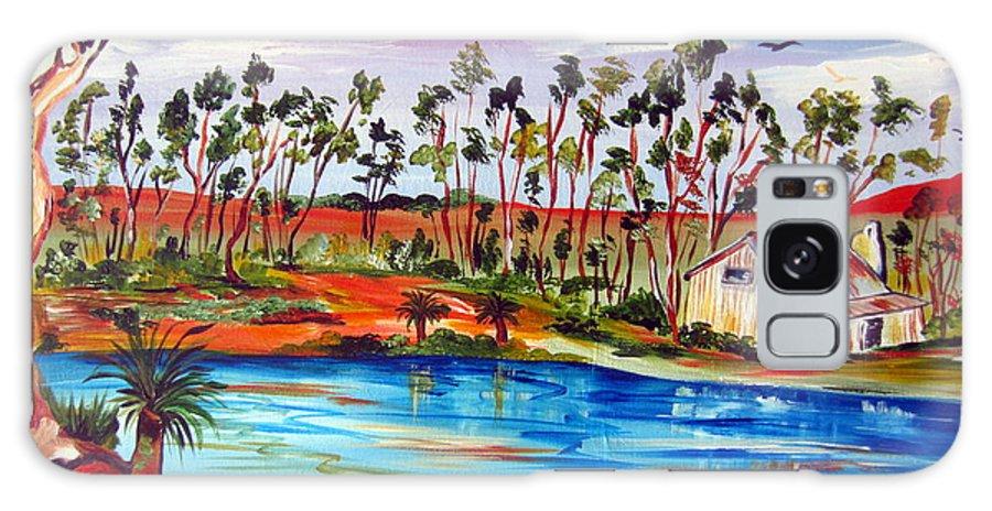 Australia Galaxy S8 Case featuring the painting Black Boys Australiana by Roberto Gagliardi