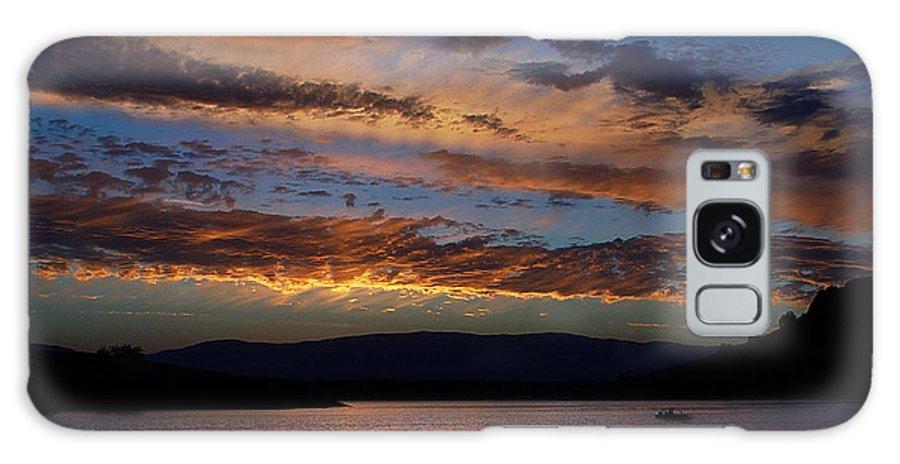 Black Butte Sunset Galaxy S8 Case featuring the photograph Black Butte Sunset by Peter Piatt