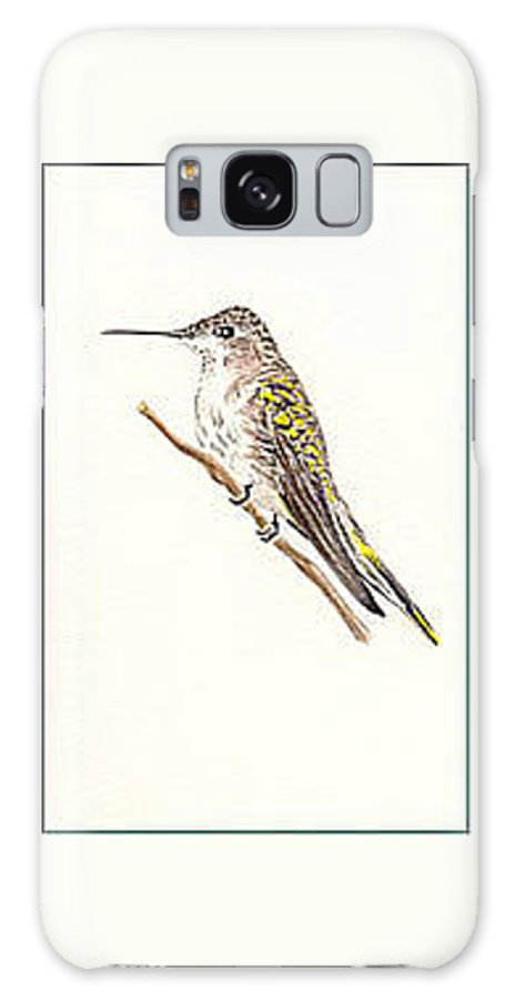 Birds Galaxy S8 Case featuring the painting Black Chinned Hummingbird by Michael Vigliotti