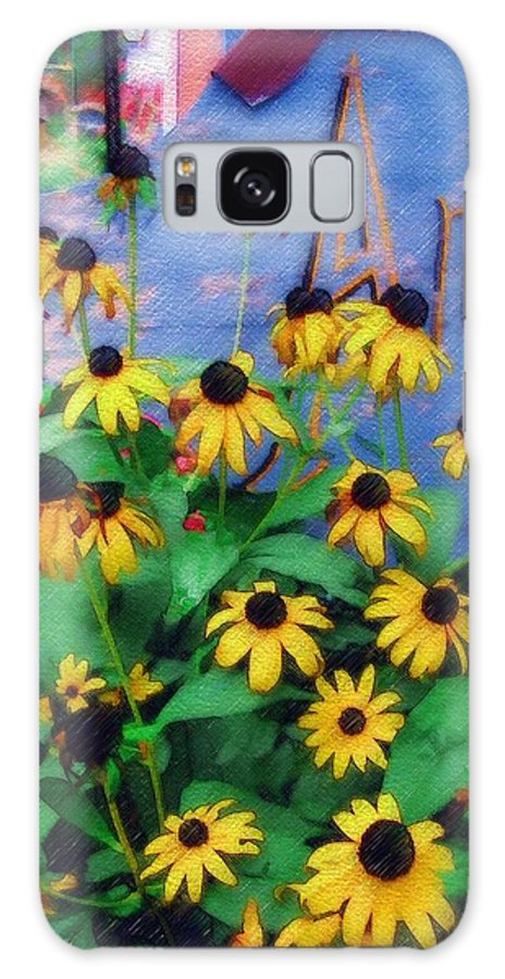 Flowers Galaxy Case featuring the photograph Black-eyed Susans At The Bag Factory by Sandy MacGowan