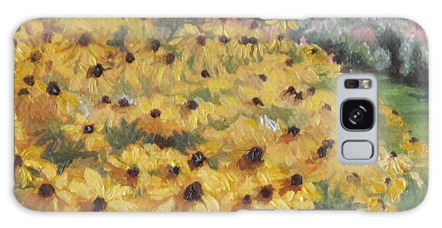 Floral Galaxy S8 Case featuring the painting Black-eyed Susans by Lea Novak