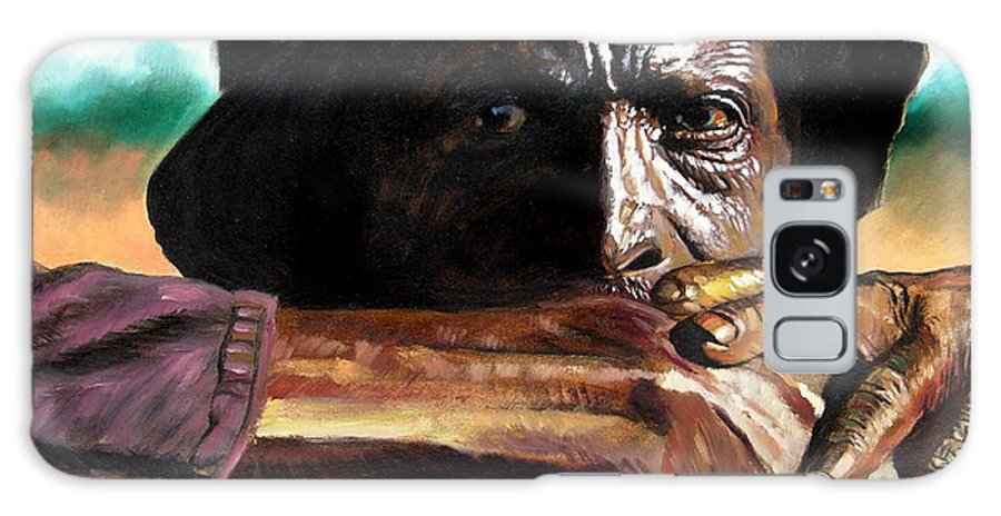 Black Farmer Galaxy S8 Case featuring the painting Black Farmer by John Lautermilch