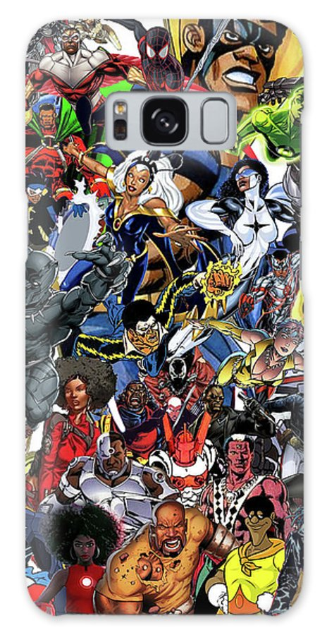 Black Heroes Matter Galaxy S8 Case featuring the mixed media Black Heroes Matter by Nic The Artist