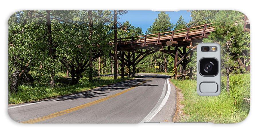 Road Galaxy S8 Case featuring the photograph Black Hills Bridge 1 by John Brueske