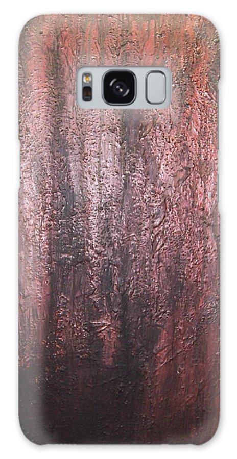 Abstract Galaxy Case featuring the painting Black No 1 by Elizabeth Klecker