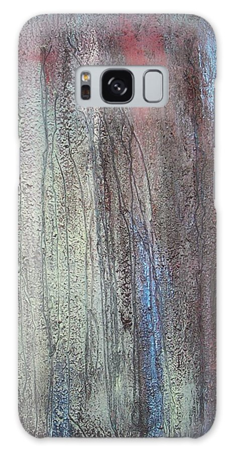 Paintings Galaxy S8 Case featuring the painting Black no 2 SOLD by Elizabeth Klecker