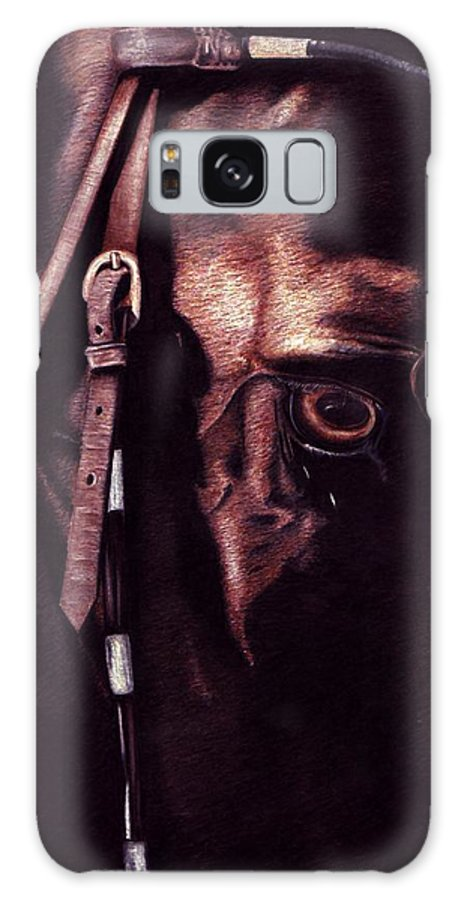 Horse Galaxy S8 Case featuring the drawing Black Sterling II by Kristen Wesch