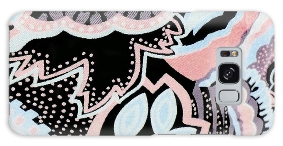 Floral Galaxy S8 Case featuring the digital art Black White And Pink Allover by Florene Welebny