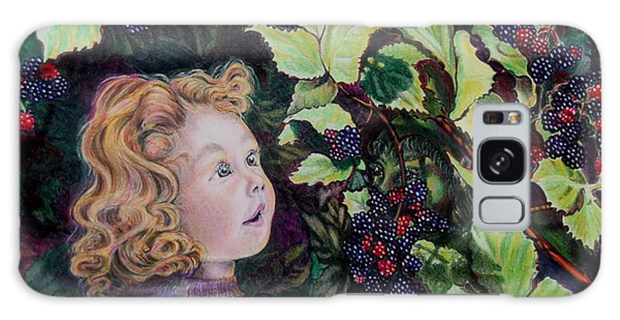 Blackberry Galaxy S8 Case featuring the drawing Blackberry Elf by Susan Moore