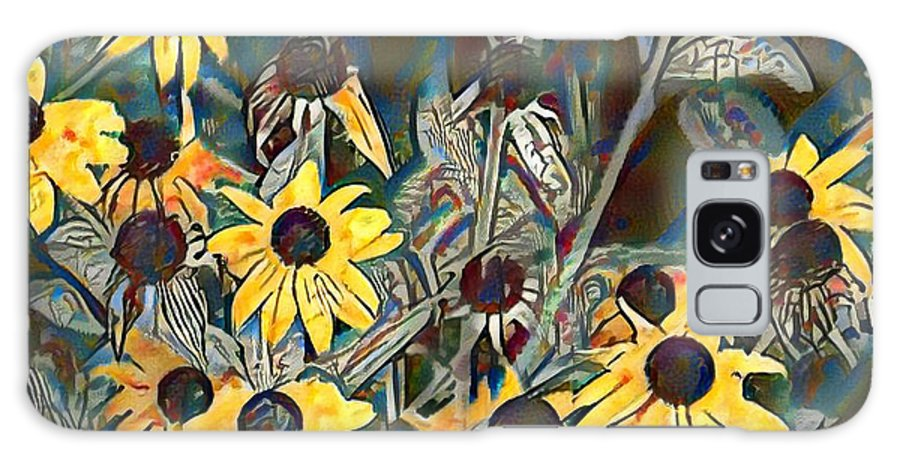 Blackeyed Galaxy S8 Case featuring the painting Blackeyed Susans Watercolor by Bill Cannon
