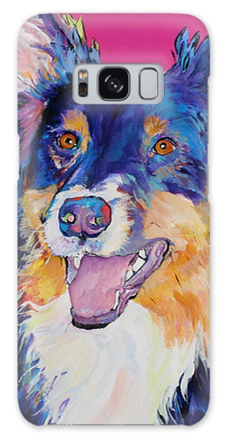 Dog Galaxy S8 Case featuring the painting Blackjack by Pat Saunders-White