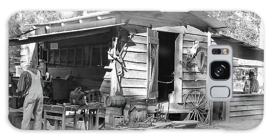 Blacksmith Galaxy S8 Case featuring the photograph Blacksmith And Tool Shed by D Hackett