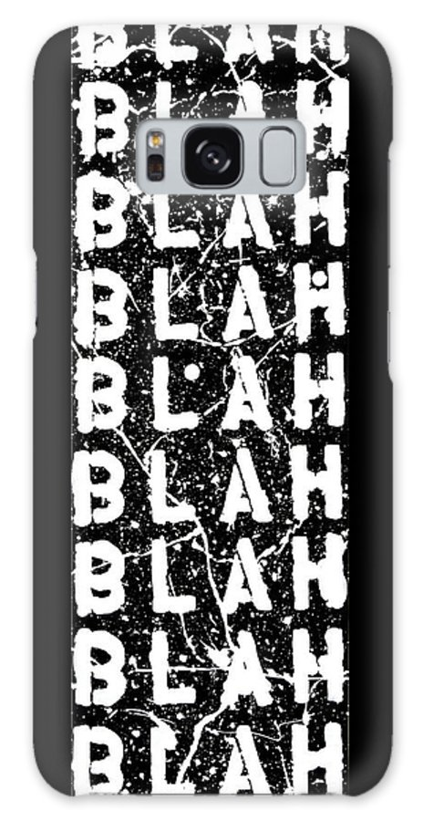 Blah Blah Blah Galaxy Case featuring the painting Blah Blah Blah by Ducksy